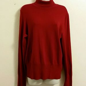 Tribal Classic Red Turtleneck Sweater.XL/TG